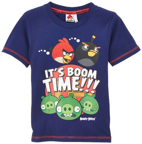 Angry Birds - Camiseta de Angry Birds para niño, talla 4 años (4 años), color azul marino #regalo #arte #geek #camiseta