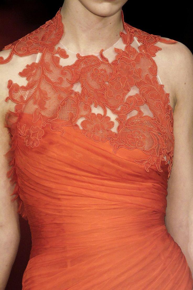Gorgeous lace details by Christian Lacroix
