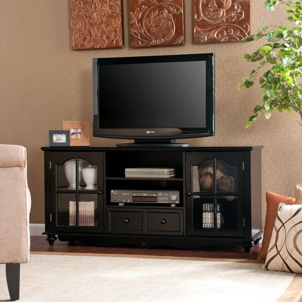 Hanover Black Entertainment Center Cabinet - Overstock™ Shopping - Great Deals on Upton Home Entertainment Centers