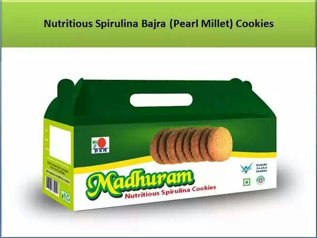DXN Madhuram Cookies Nutritious Spirulina Bajra ( Pearl Millet ) Cookies.