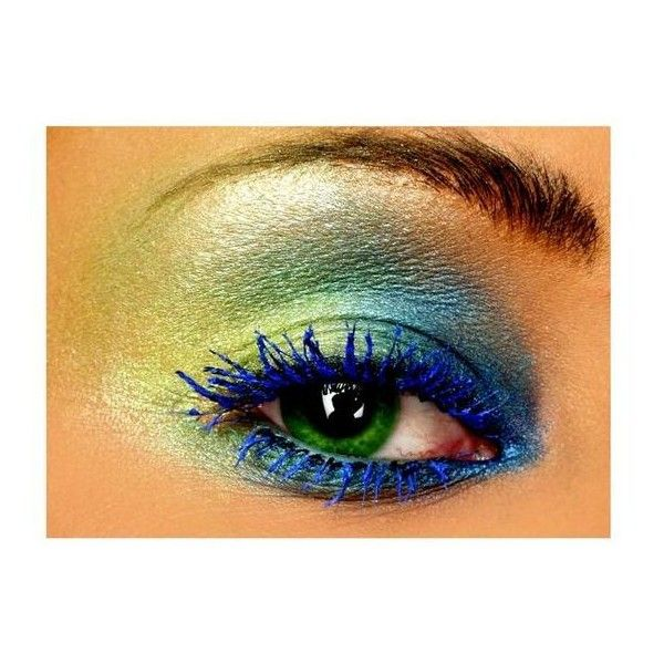 Peacock eye makeup ❤ liked on Polyvore featuring beauty products, makeup and eye makeup