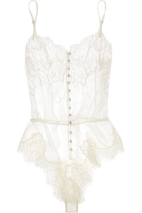 Hello Honeymoon! White lace lingerie~something old, something new, something naughty?...