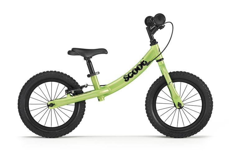 Duży rowerek biegowy Ridgeback Scoot XL w kolorze zielonym posiada regulację siodełka od ok. 39-55 cm, regulację wysokości kierownicy, kierownica bez blokady skrętu, pompowane opony 14 cali, hamulec tylnego koła typu v-brake.
