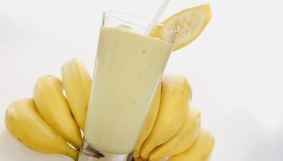 Smoothie de banana e albumina