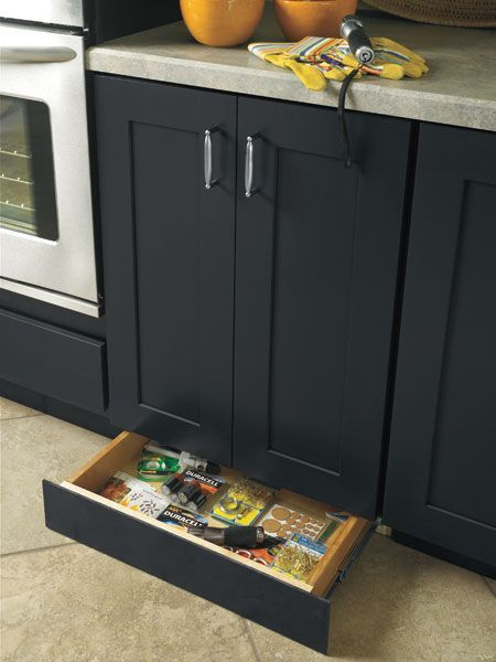 A Toekick Drawer Is A Sneaky Spot To Store Kitchen Gearu2014or Maybe Your  Jewelryu2014and The Toekick Drawer Modification Feature Makes It Truly Sneaky:  The ... Design