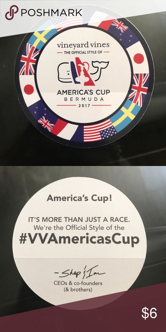 Vineyard Vines Americas Cup Sticker Rare VV sticker! Only have one of these! Vineyard Vines Accessories