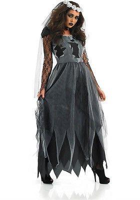 Horror Damen Vampir Braut Halloween Kostüm Kleid Kostüm Party ladcos11
