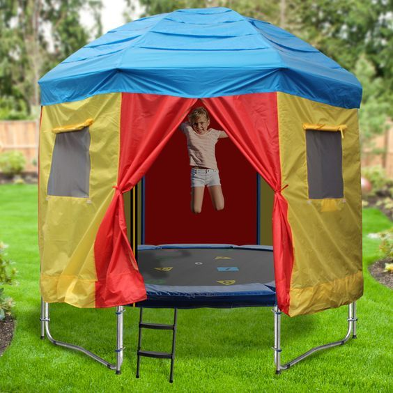 8ft Trampoline Tent - Circus Design - A tent for your trampoline