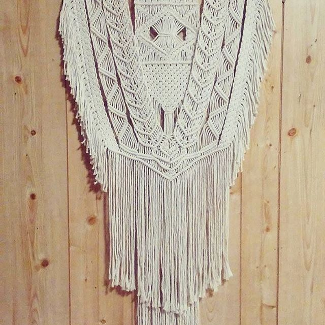 Intricate beauty courtesy of @andyrtrevathan ✨ #homedecor #macrame #fiberart #wallart #wallhanging #rockmountainco
