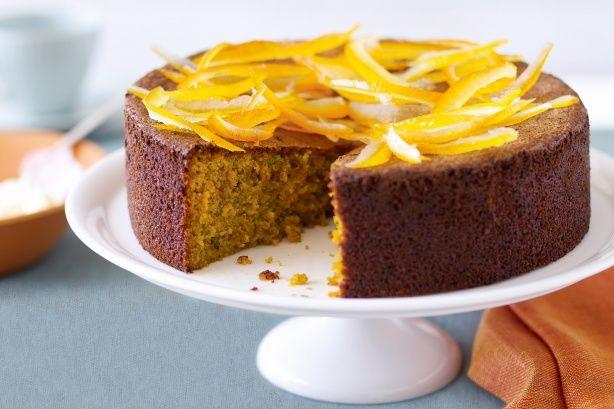 Whole mandarin pistachio cake