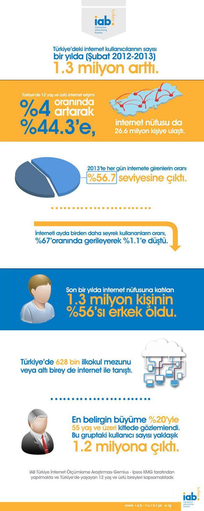 Türkiye'deki İnternet Kullanıcı Sayısı