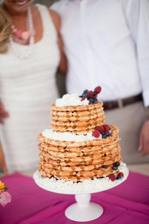 Beautiful Waffle Wedding cake-great for brunches too!