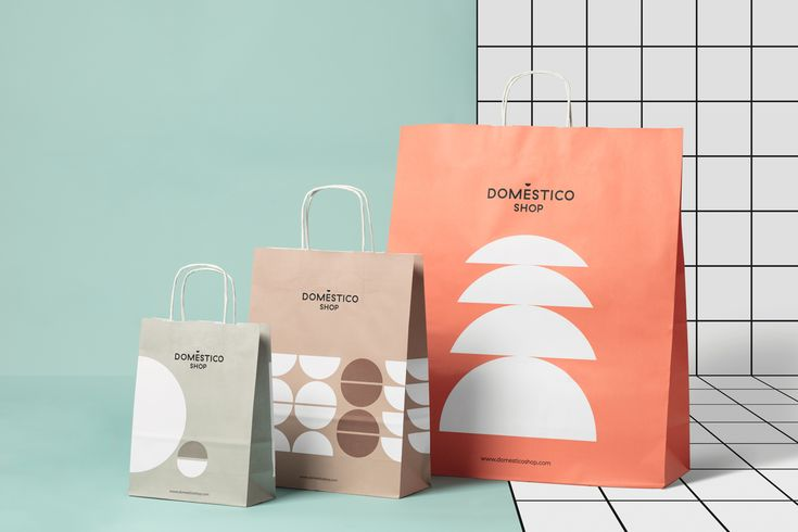 New graphic identity and bags designed by Mucho for Spanish furniture retailer DomésticoShop
