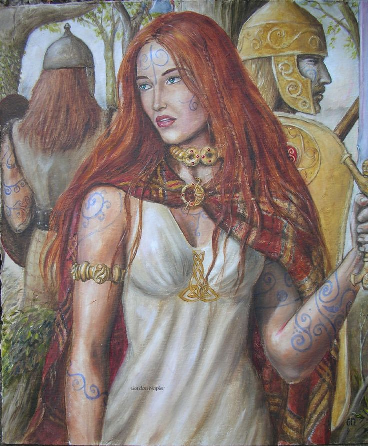 Boudicca (aka Boadicea), Queen of the Iceni tribe, is famous for having led an uprising against the occupying force of the Roman Empire in AD 60/61 and legend has it she and her tribe of warriors wore a cobalt #blue paint on their skin, which gave them a ferocious and mythical look when advancing into battle. #color