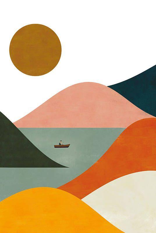 El Barquero print – #Barquero #El #landscape #Prin…