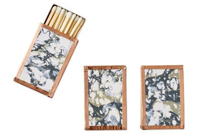 French Marble Petite Matchboxes