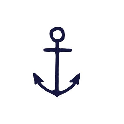 Anchor Print in Navy