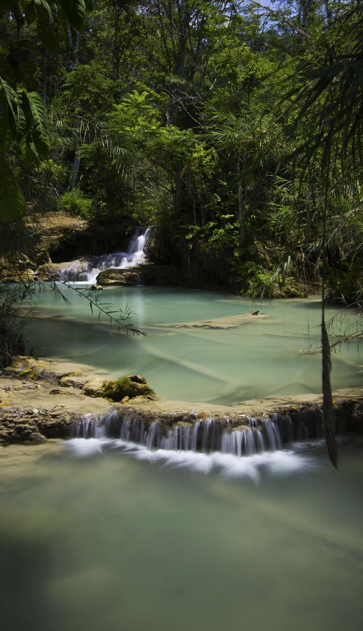 Kuang Si Falls, Laos. A beautiful spot with waters so blue and transparent that they will compel you to go for a swim. For more, click on the picture. From http://www.orientexcess.com