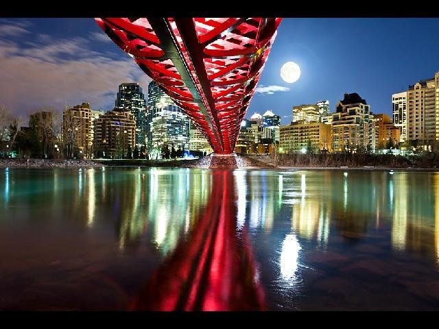 Supermoon over Calgary, AB