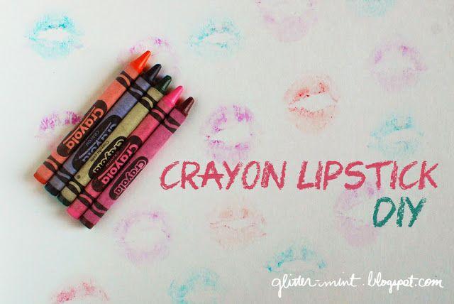 Glitter Mint: Make Your Own Crayon Lipsticks