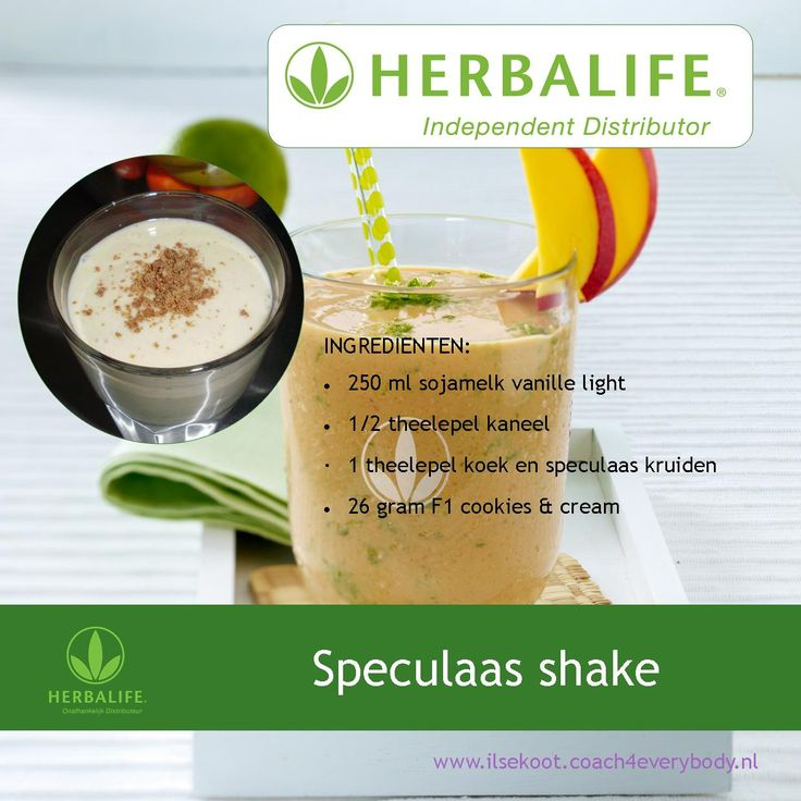 Winter shake: Herbalife Speculaas shake