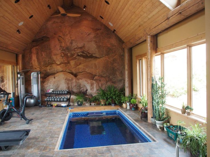 10 best man caves images on pinterest endless pools for Garden training pool