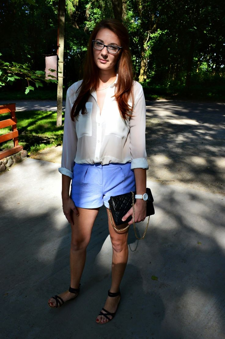 natalie's style: LOOK OF THE DAY: BABY BLUE