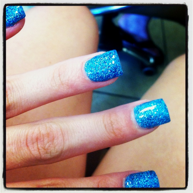 Solar nails. Don't just do the tip do the whole nail :)