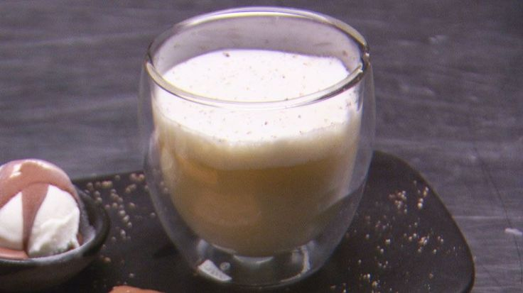 Matt Preston Serves 2 Hot White Chocolate with Cinnamon and Marshmallow Foam