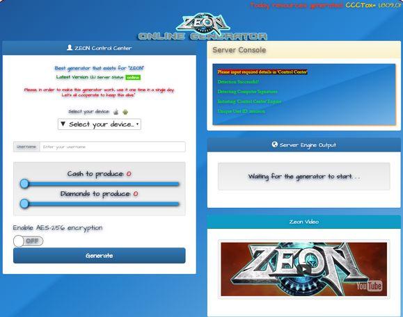 Zeon Hack Generator