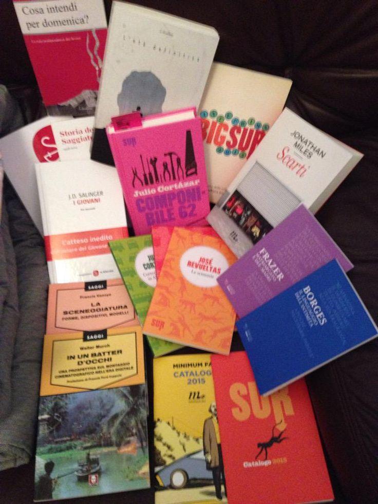 Carlotta al Salone ha comprato due libri di Lindau Cinema. Intenditrice :) #SalTo15