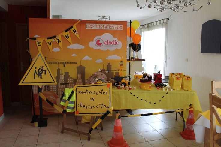 Mon plus bel évènement a crée un anniversaire en plein chantier pour Evann, 5 ans.