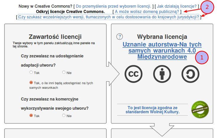 Licencje – Creative Commons Posted on 2 grudnia 2013 Polecam artykuł na temat licencji. Warto poznać lub sobie odświeżyć.