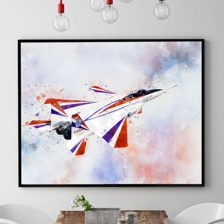 NASA Poster, NASA Plane Print, Airplane Decor, Airplane Wall Art, Kids Room Decorations, Watercolour Plane Art, Aircraft Art Print (N316) by PointDot on Etsy