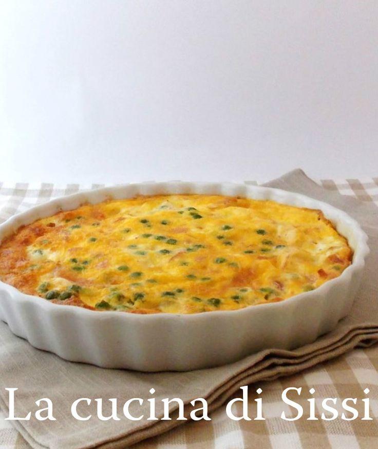 FRITTATA AL FORNO CON PISELLI,COTTO E MOZZARELLA http://blog.giallozafferano.it/cucinasissi/frittata-forno-piselli-cotto-mozzarella/