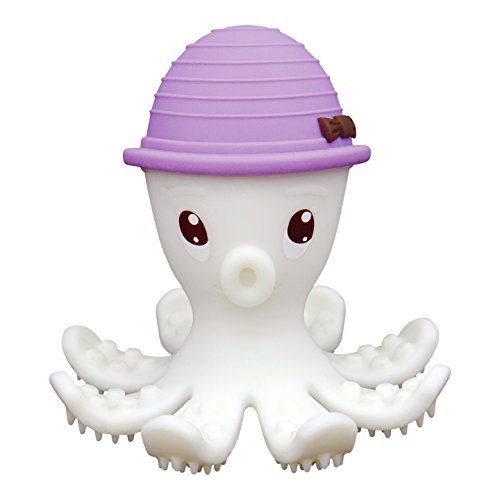 Mombella Food Grade Soft Silicone Teething Toy, Adorable Shy Octopus Teether , Perfect Baby Gift, Unique Shower Gift, Special Baby Christmas Present, Silicone Gum Brush, for Babies 3m+, 4 Colors Available Mombella http://www.amazon.com/dp/B00Z9NXMFI/ref=cm_sw_r_pi_dp_gvLMwb15NPGRJ