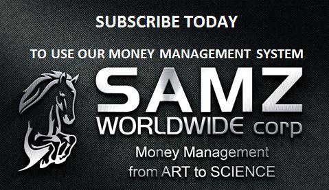 SAMZ Horse Betting Money Management System logo creation