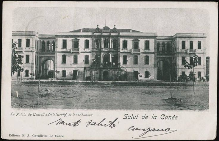 The palace of the administrative board and courts, Canea (Chania)....