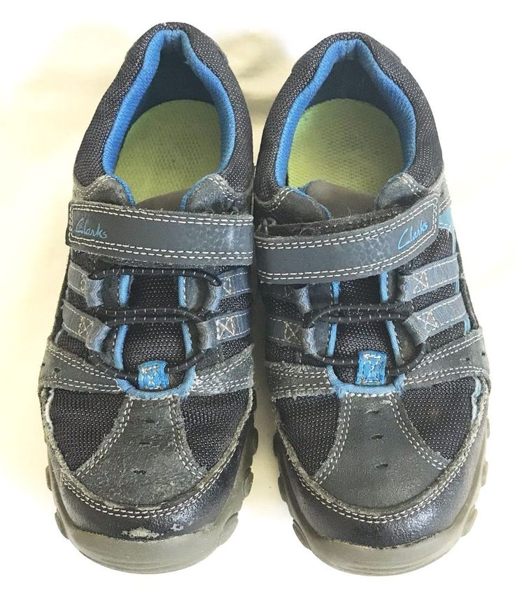 Clarks Kids Boys size 12.5 MW Blue Leather Hook & Loop Closure Sneaker Shoes #Clarks #sneaker #fashion #style #3dsXL #vintage #shopping #clothing #ebayseller #abestbra  #paypal #toys #ebaystore #electronics #handbags #collectibles #dress #accessories #pokemon #dojo #toys#mens #shoes #shop #selling