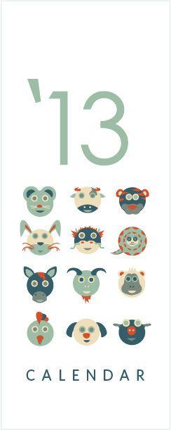 Illustration - Chinese Horoscope Calendar by Mandara Nagaraj, via Behance