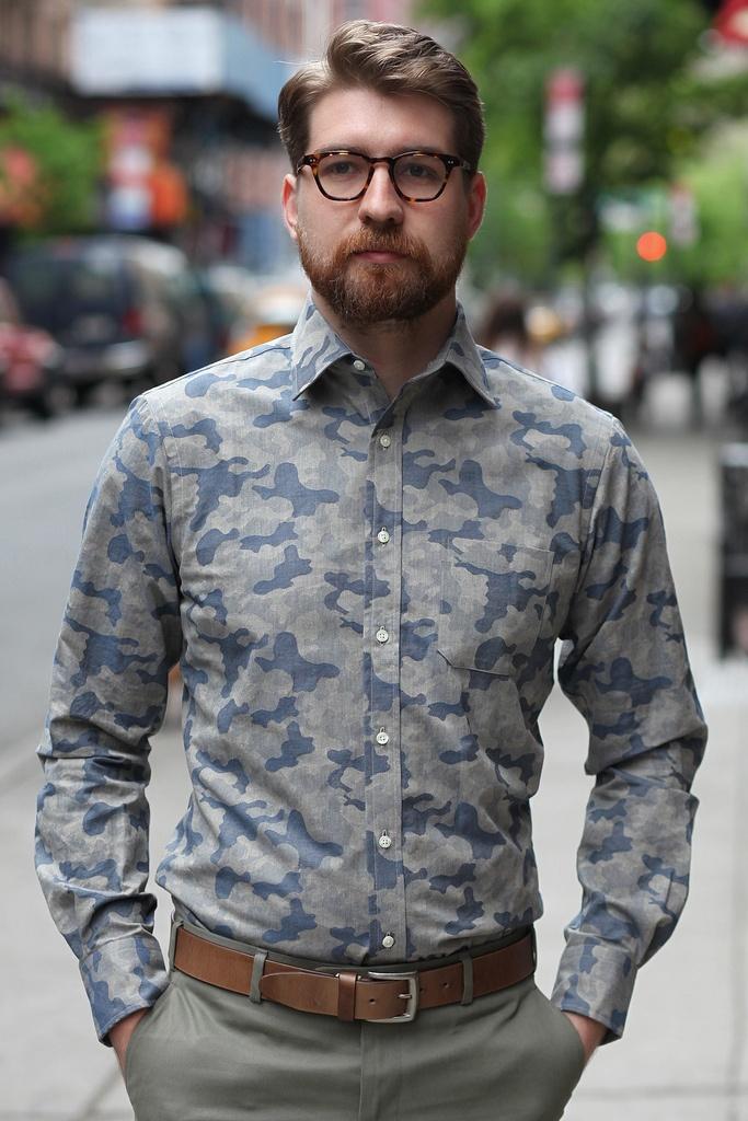 Epaulet Japanese camo shirt.