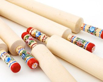 Rolling pin with decorated handles. Art: 103-005-0001-15 - Edit Listing - Etsy
