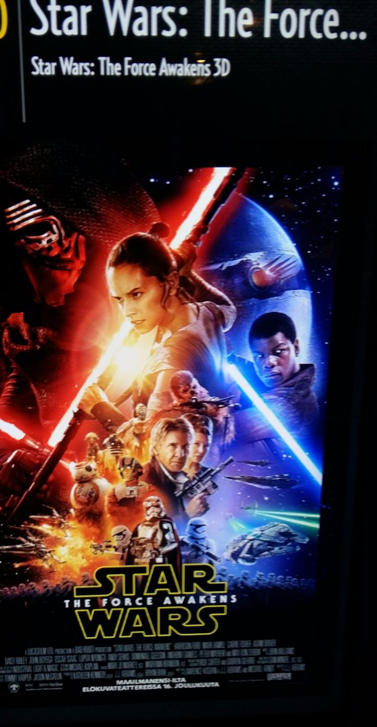 NEWS... CULTURE.  MOVIE WORLD. I have seen it.... 7. STAR WARS.  Great Story&MOVIE, Old stuff, New... and Great all movie. Watch&ENJOY Sience and Story, all Great MOVIE. RECOMMENDED worth WATCH and Have been WATCH all over WORLD. Well done. 27.12.2015  SMILE: