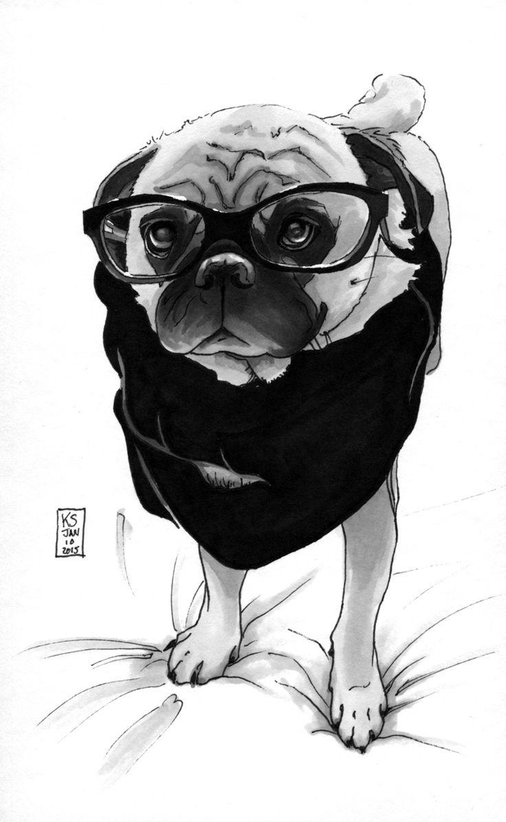 87 best pug art images on pinterest pug art pugs and pug dogs