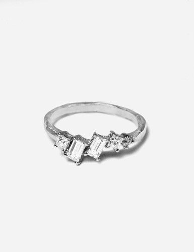 Ragged Baguette Ring - Stunning and Unique Engagement Ring Ideas - Photos