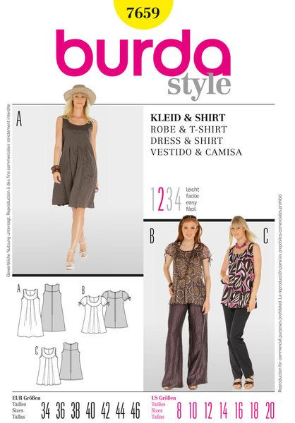 B7659 - Sewing- Patterns- NZ - dresses, childrens, babies, toddlers, simplicity, burda, new look, project runway