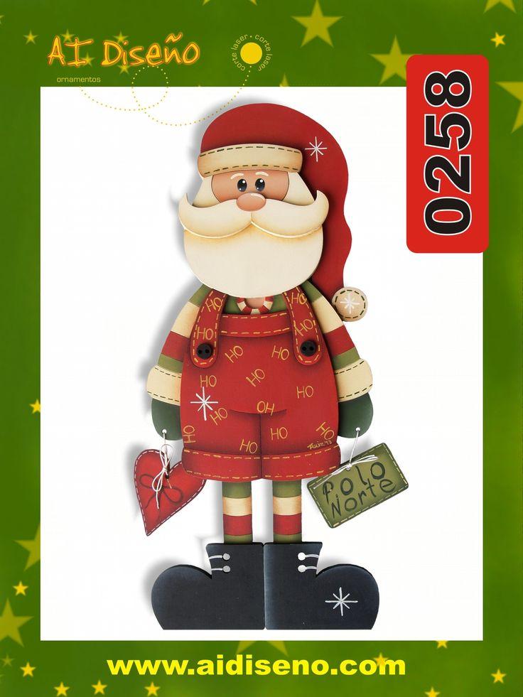 Santa en madera