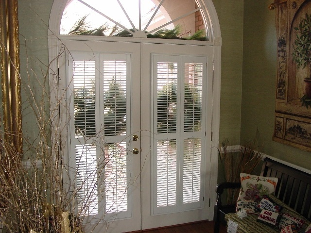 Upgrade French Doors With Plantation Shutters. Like These White Wood  Shutters With 1.5 In Louvers