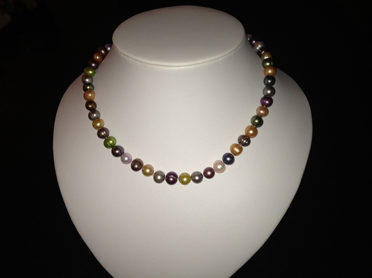 multi colour freshwater pearl necklace with silver clasp $32.99 www.pretty-things.com.au
