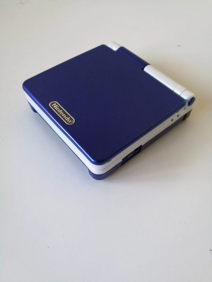 two tone blue and white GBA SP 101